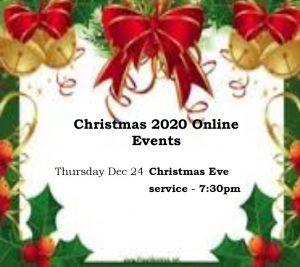 Christmas Eve service, 7:30 p.m.